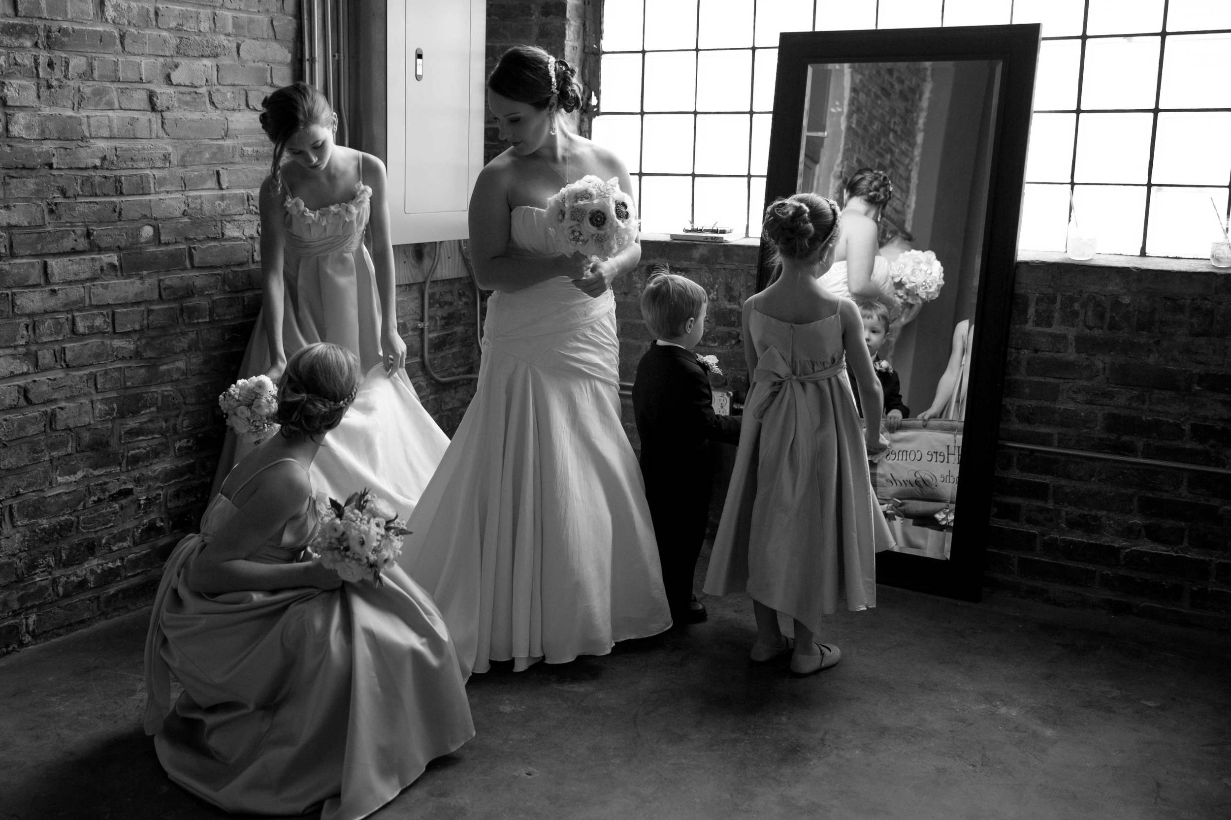 17. OUR BRIDE AND HER COURT ASSEMBLE BEFORE THE GRAND ENTRANCE.
