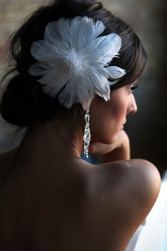 Can you tell we like feathers? Etsy: shopjaxiebridal