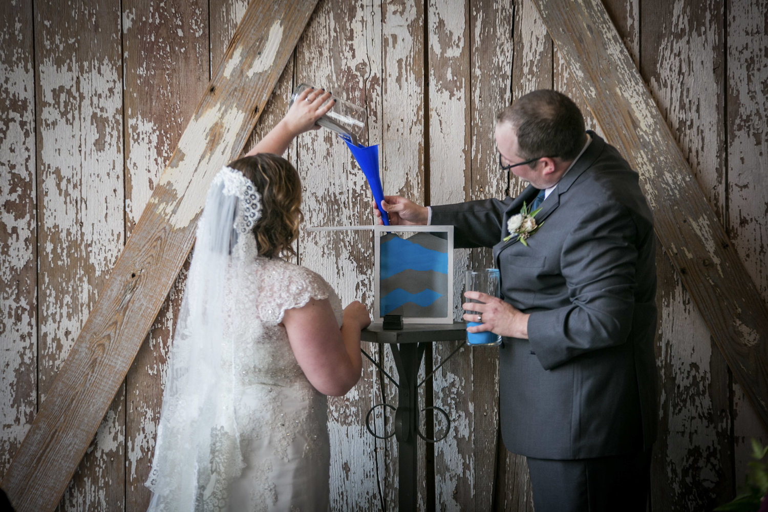 6. Sand Ceremony - Create a keepsake art piece that forever memorializes your individual lives becoming intertwined as one in an irreversable bond.