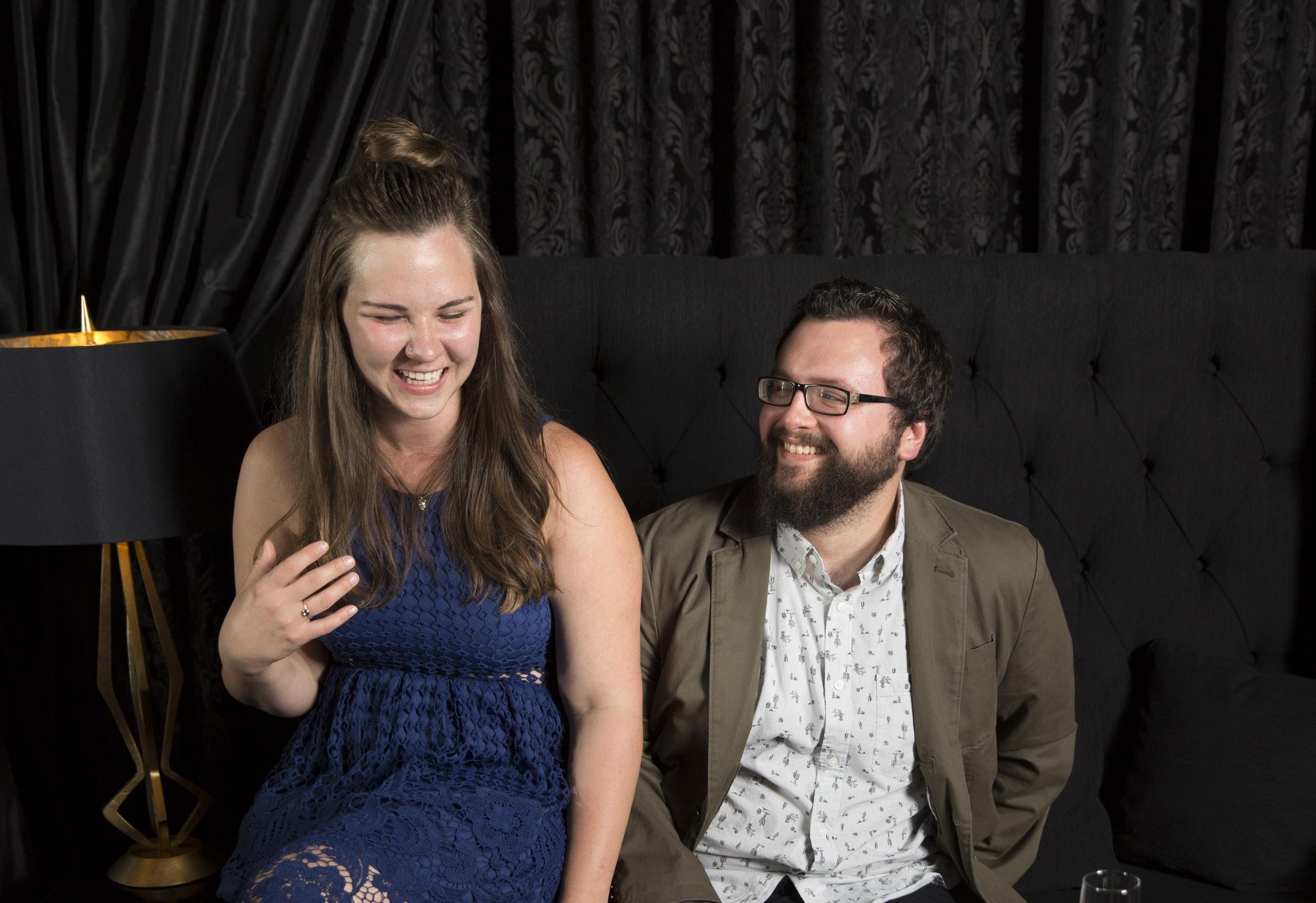 Kristen with Josh, her boyfriend of 7 years.