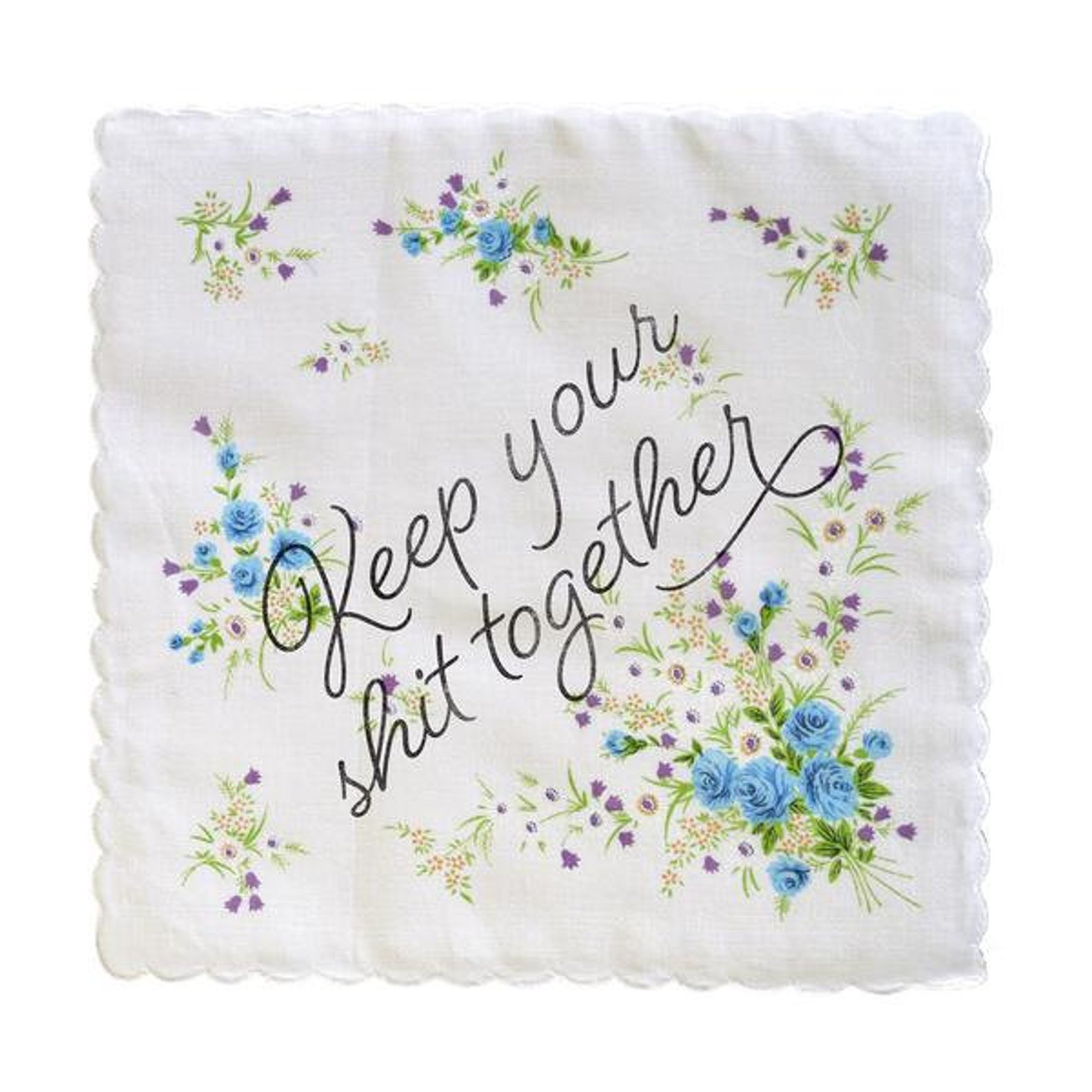 4. Something Blue Handkerchief - Keep this hanky close by for all the feels and as a not so subtle reminder to hold in the happy tears.