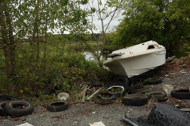 nate dorr beached motorboat.jpg