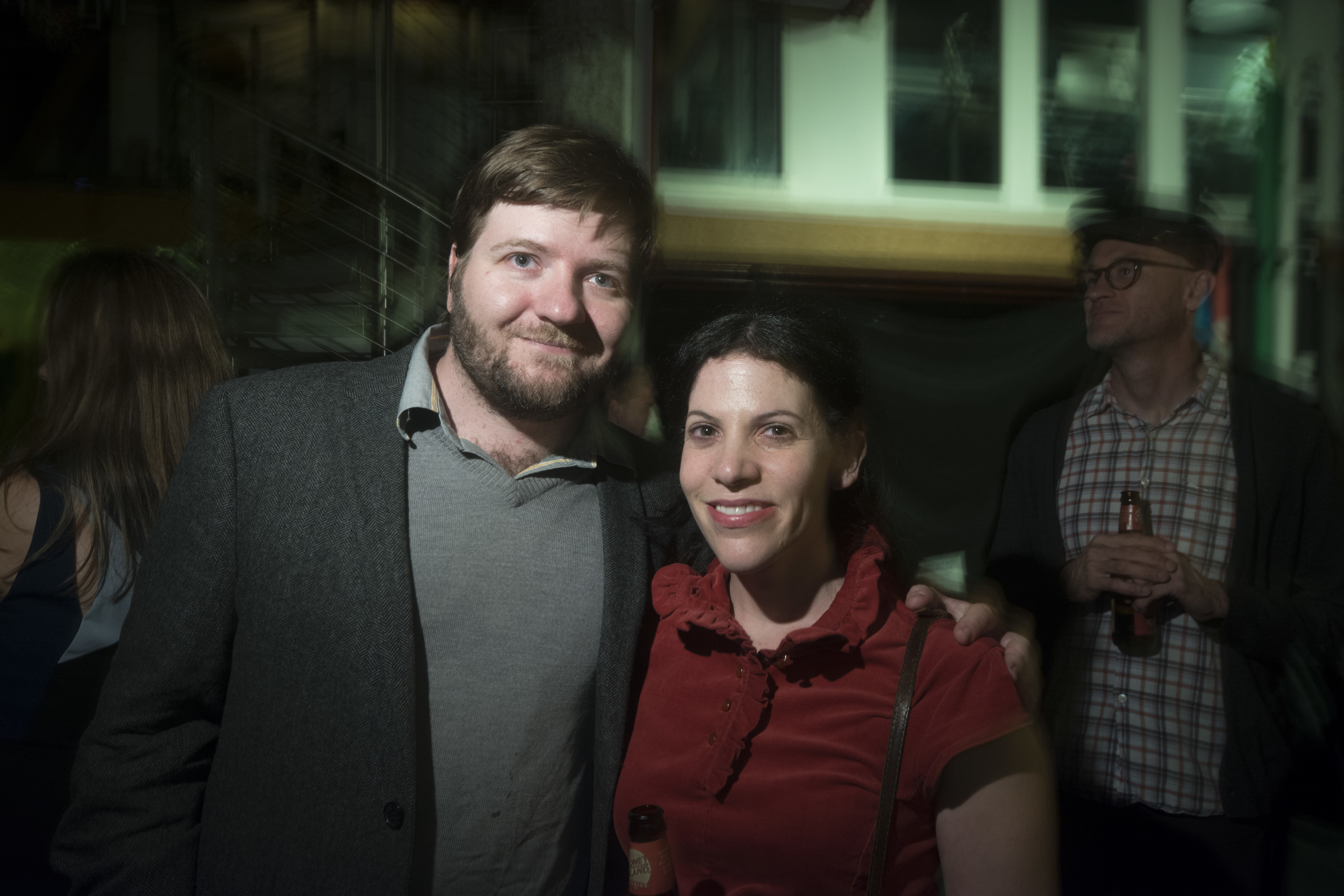 Colin Dickey and contributing filmmaker Nicole Antebi