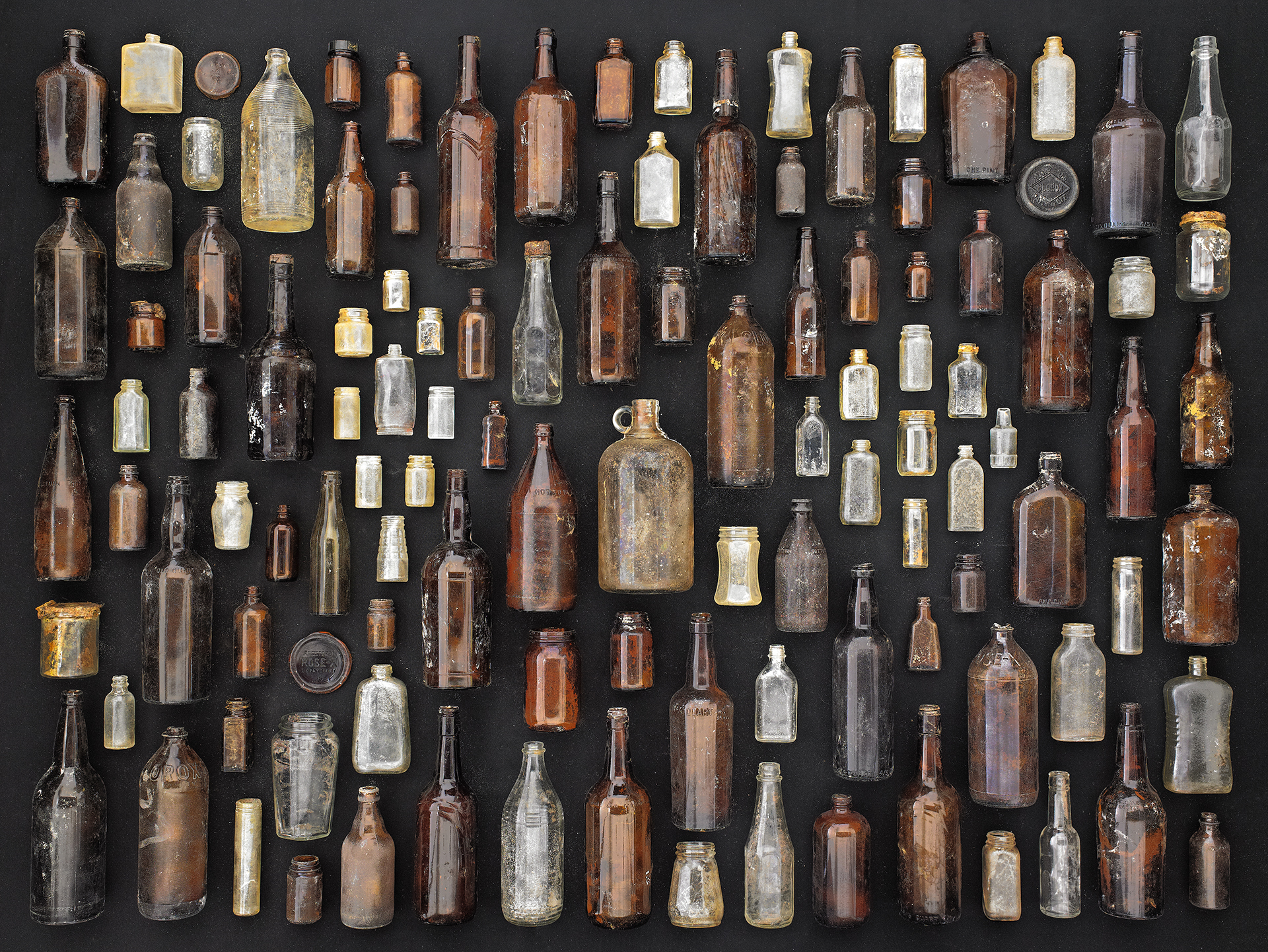 e_Barry Rosenthal Brown and Clear Bottles.jpg
