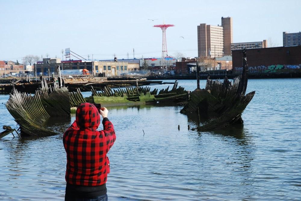 Coney Island and Coney Island Creek - photograph by Farooq Ahmed