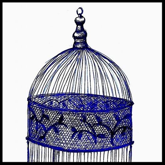 Blue Birdcage by Deborah Sabat