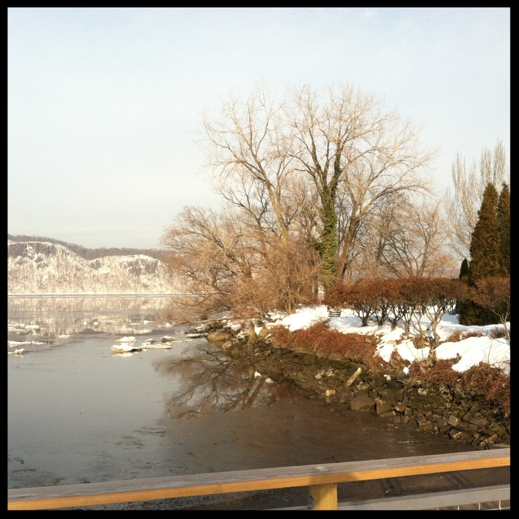 Winter on the Hudson River by Cheryl French
