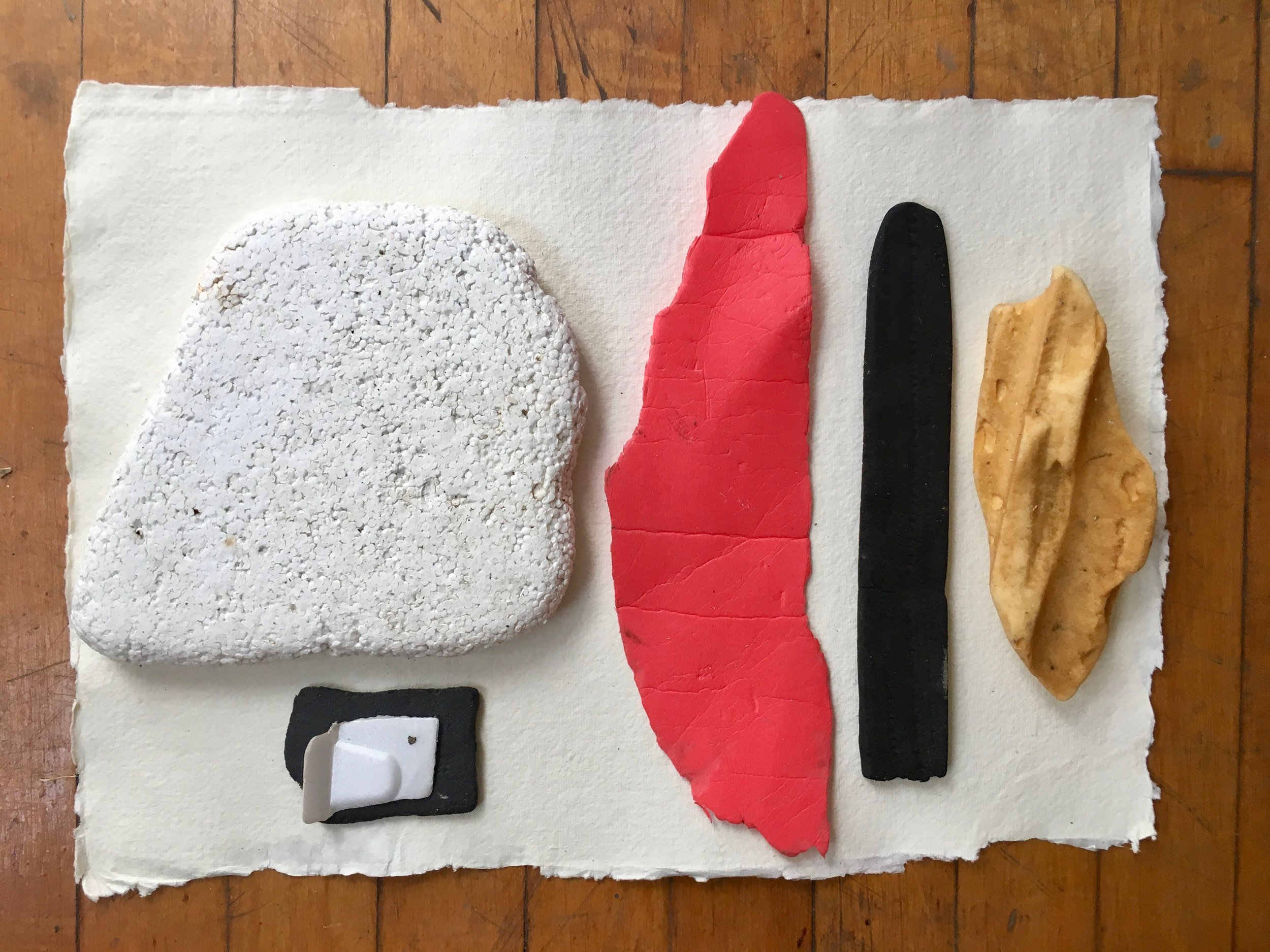 Materials found on the shoreline of Governors Island