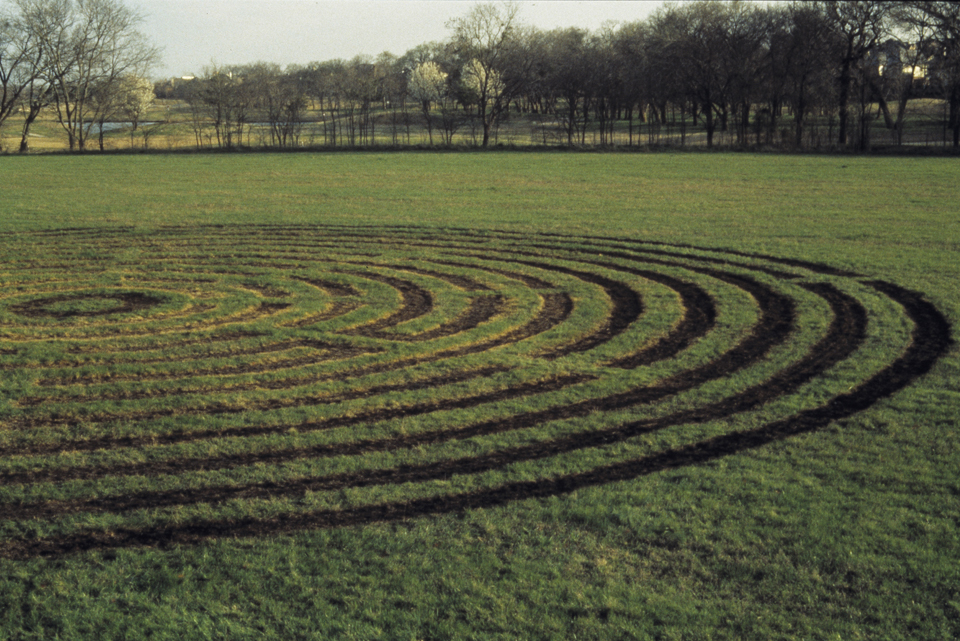 labyrinth detail 200 ft diameter  burned grass connemara dallas texas
