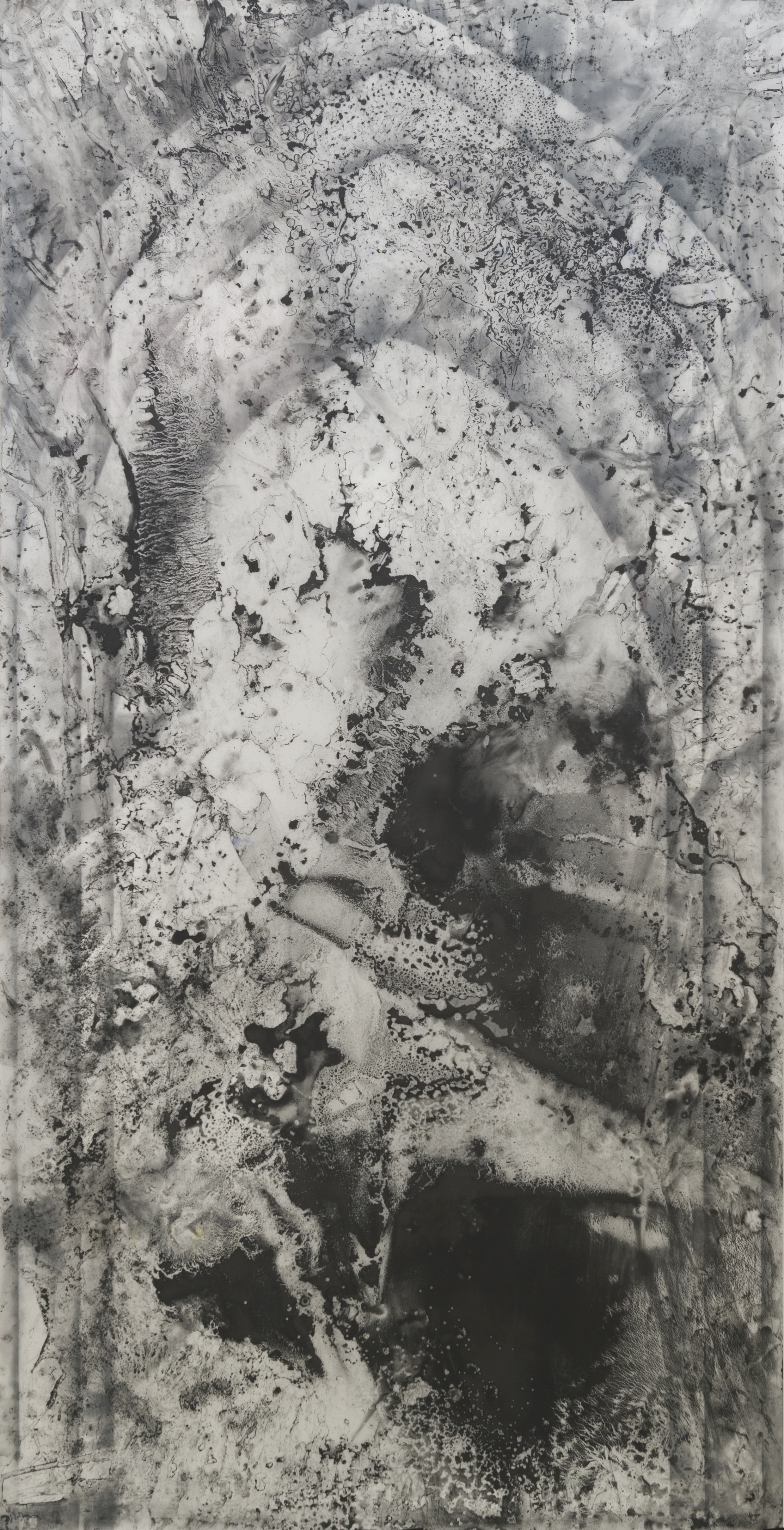 "restitution 2013 84"" x 42"" ink graphite dura-lar"