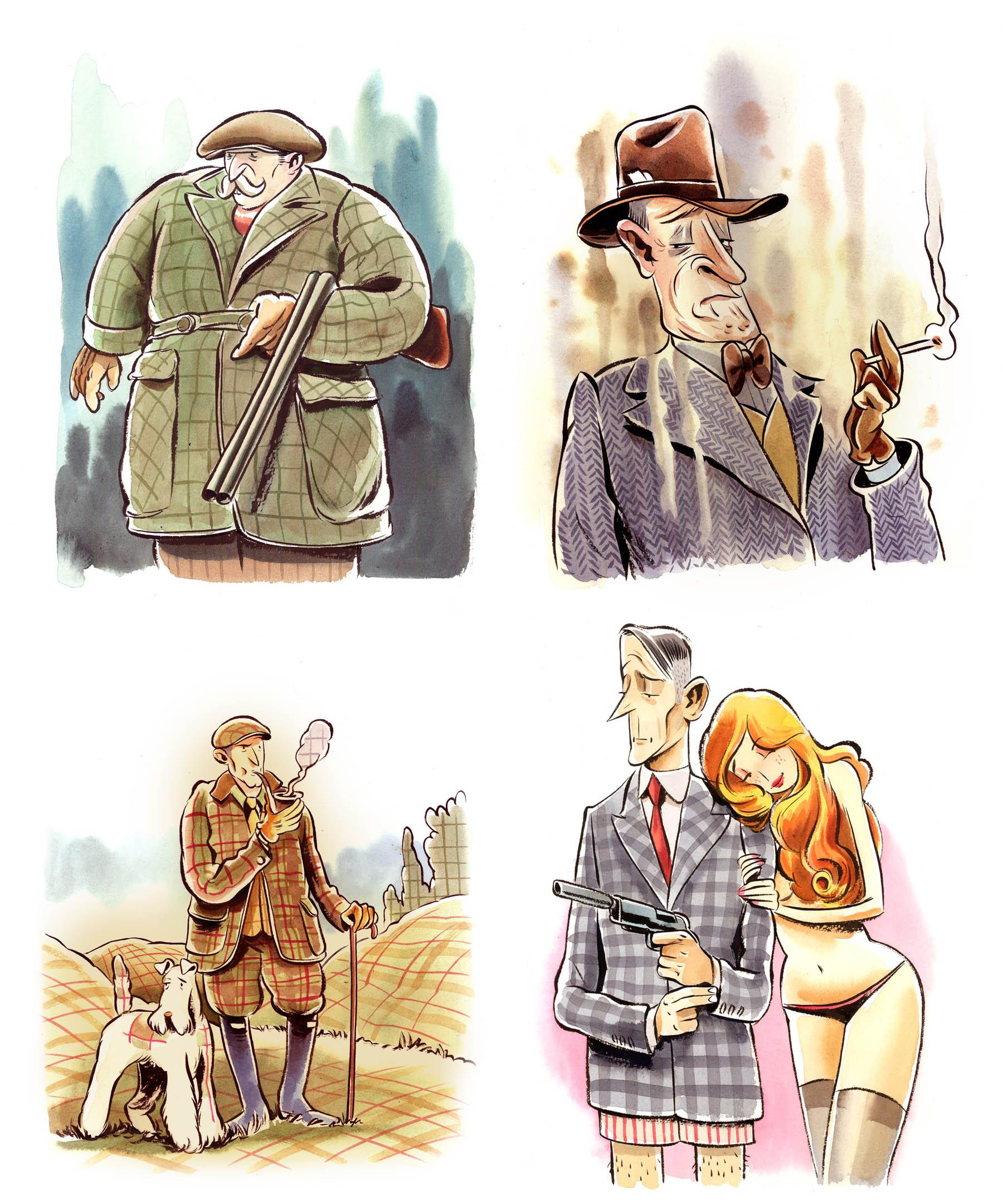 Vanity Fair : Tweeds inspired by Downton Abbey