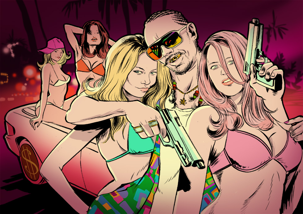 GQ:  Movie review of Spring Breakers with James Franco