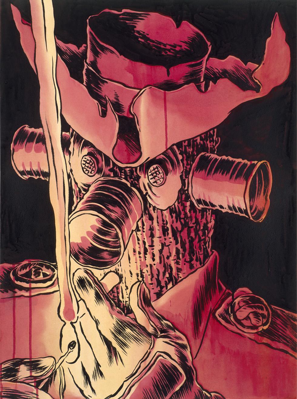 "Ink & Watercolor 22""x30"""