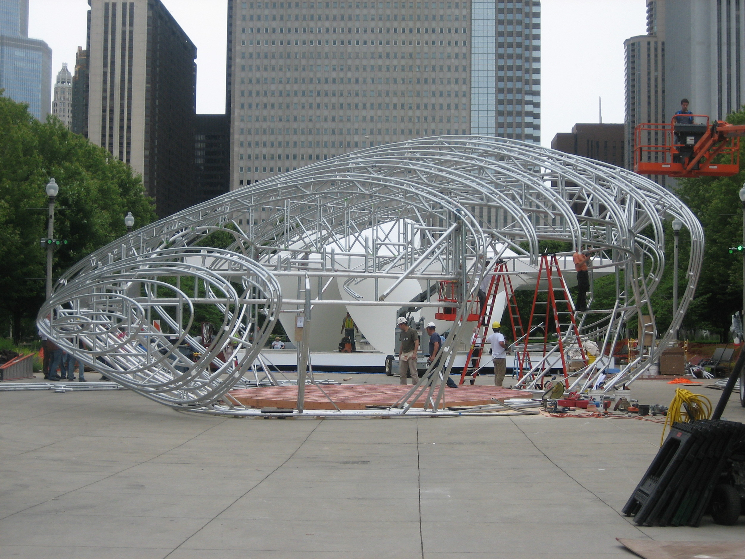 Structural Engineer - Rockey Structures  Design Architect - Zaha Hadid Architects  Architect of Record - Thomas A. Roszak  Chicago Art Installation