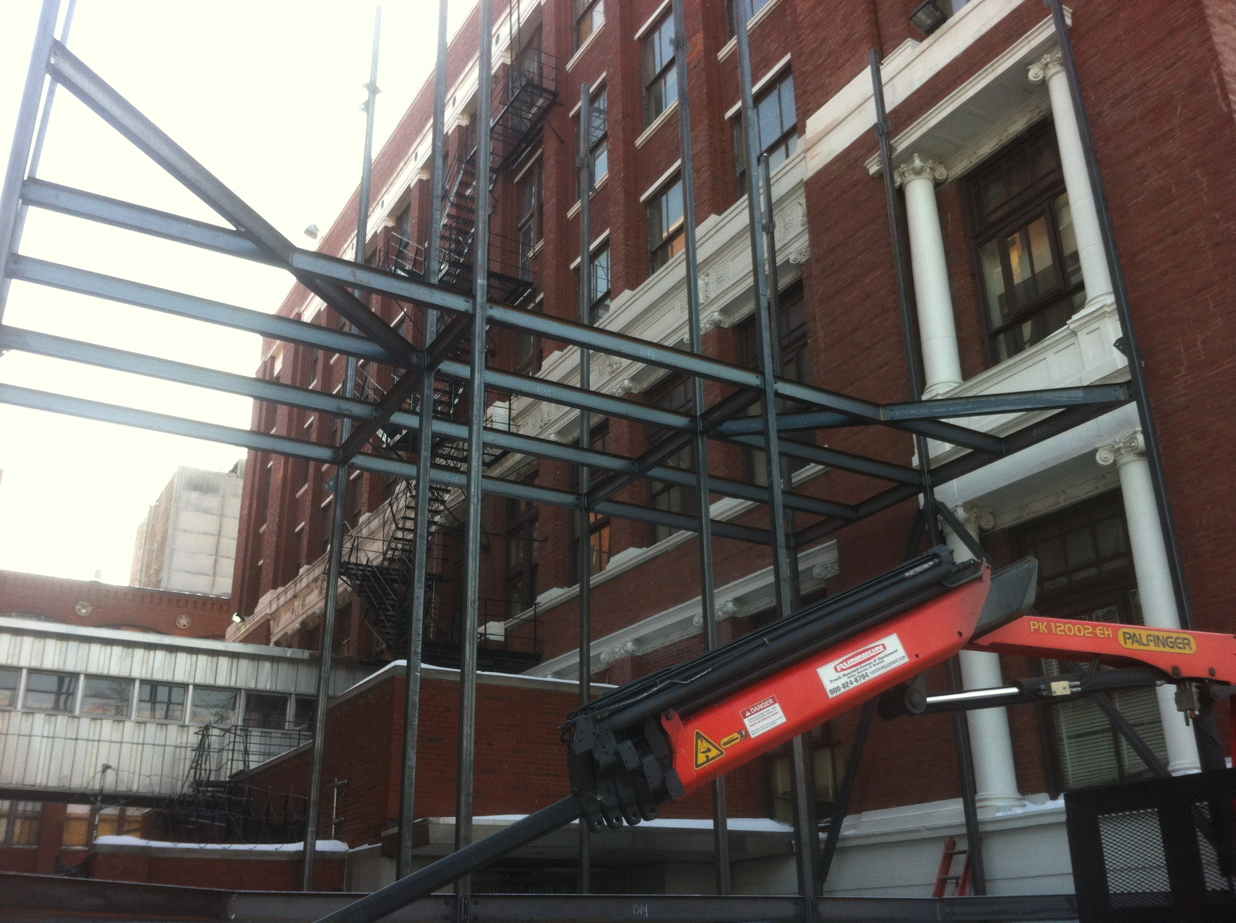 Structural Engineer - Rockey Structures  Client - Chicago Fire - NBC  Chicago Special Effects Installation