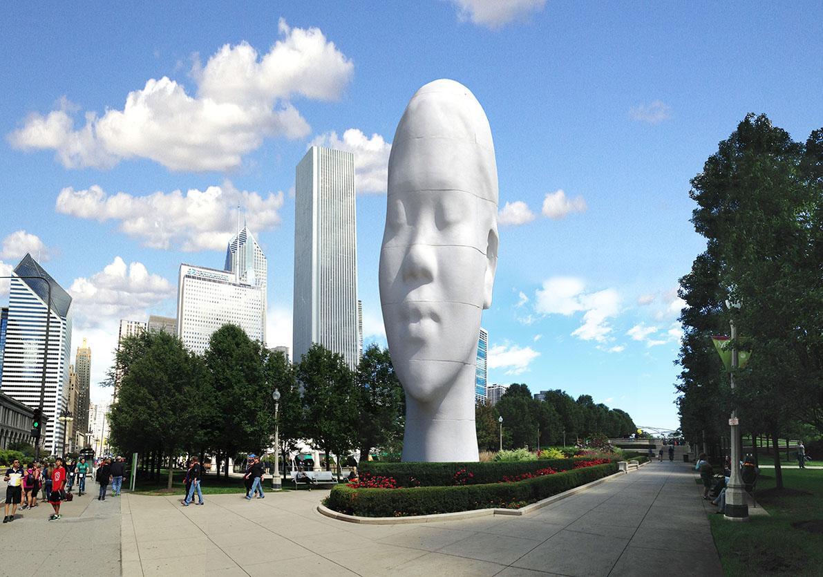 Chicago Art Installation  Structural Engineer - Rockey Structures  Artist - Jaume Plensa