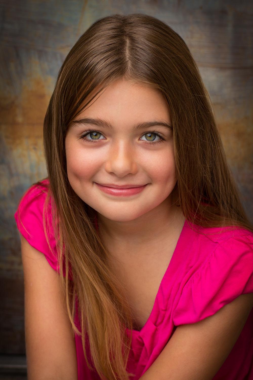 Kids Acting Headshot for Jocelyn Vogel shot by Best Kids Headshot Photographer in Boston photographer Erica Derrickson