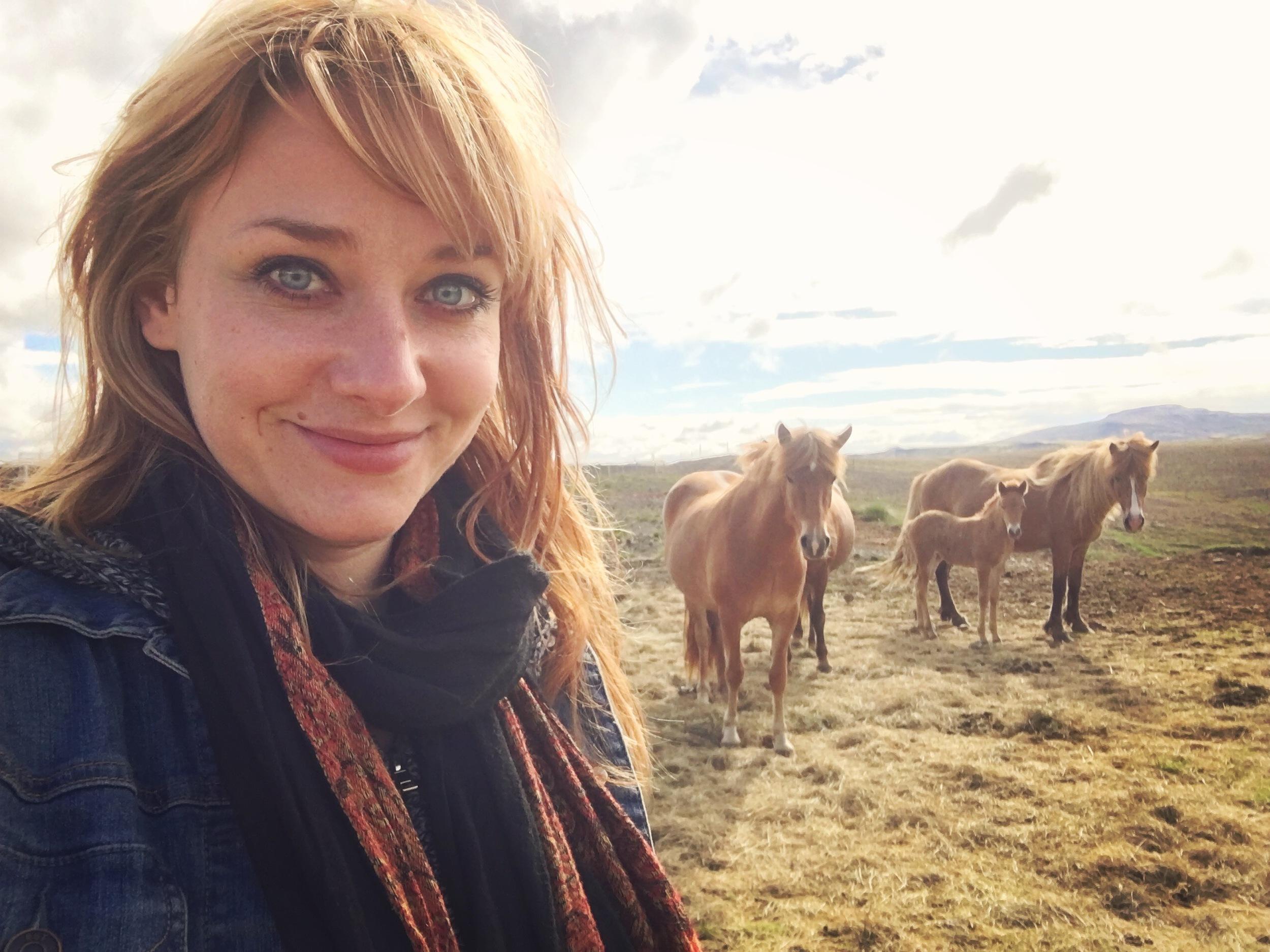 Icelandic horses w Boston headshot photographer Erica Derrickson
