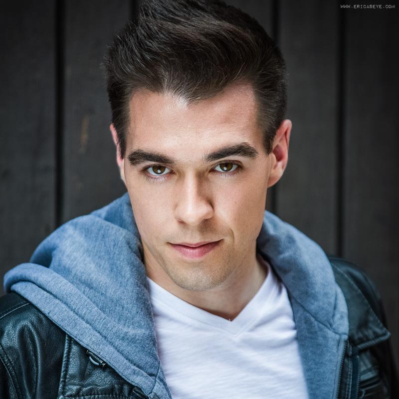 Boston actor Nick acting headshots Ericaseye photography studio