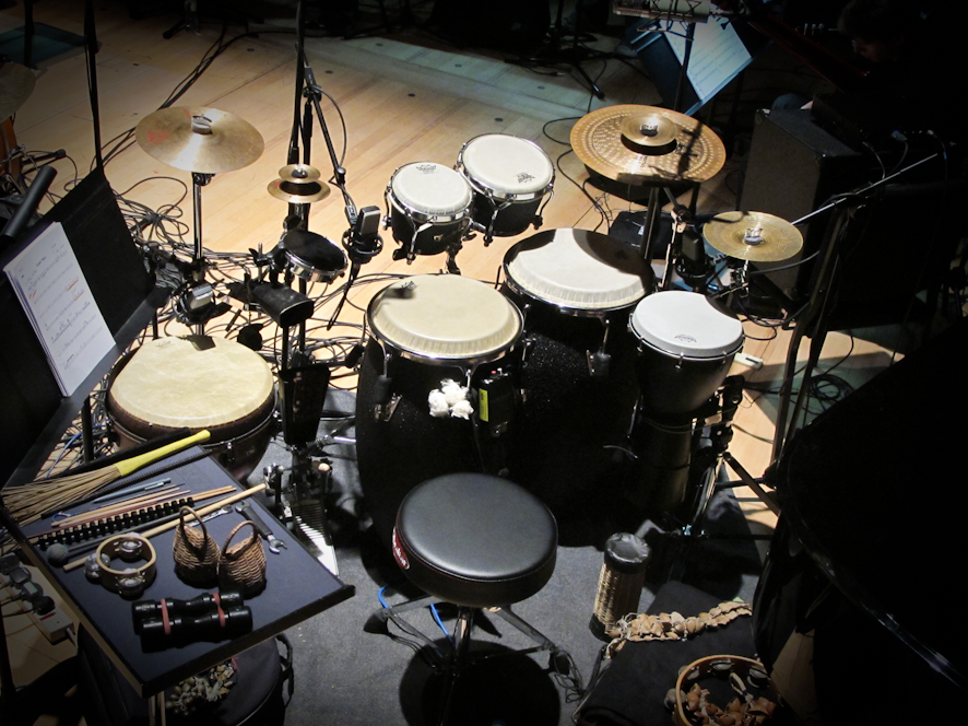 "Percussion-Set I used on the ""Music of Weather Report"" Tour with the Scottish National Jazz Orchestra featuring Peter Erskine."