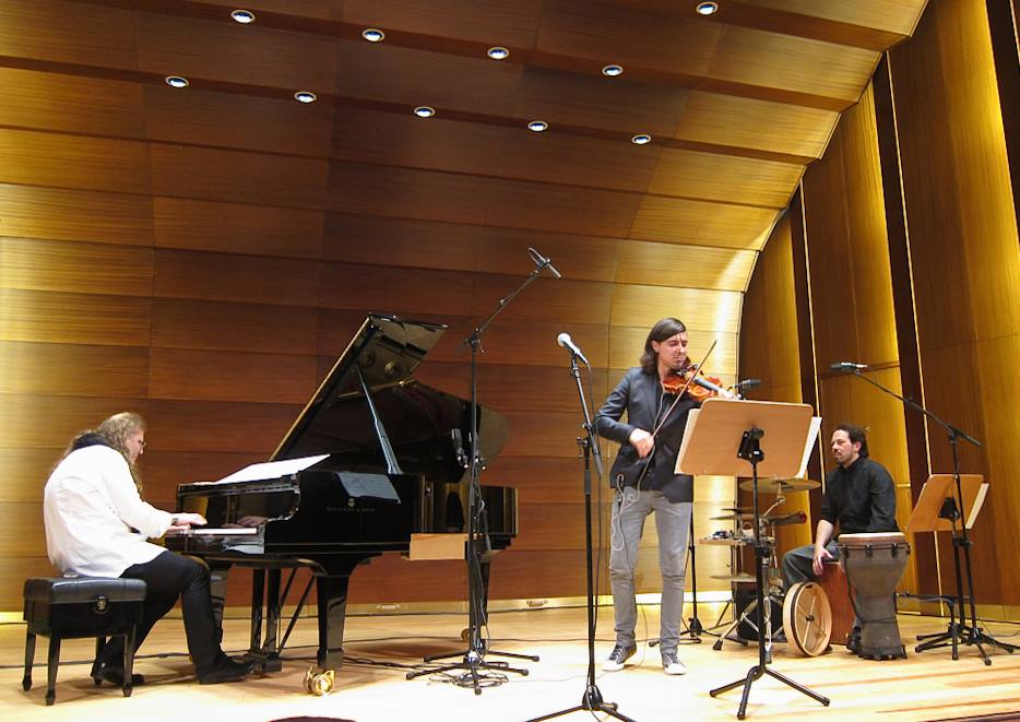 Trio concert with Vladyslav Sendecki and Adam Baldych at the Laeisszhalle in Hamburg.