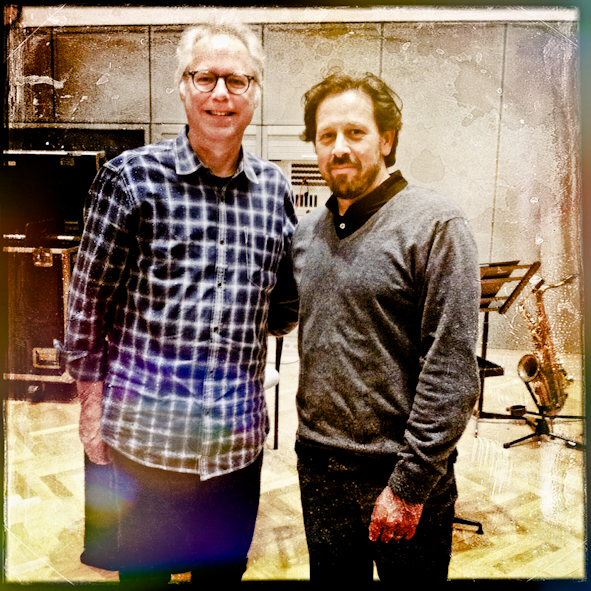with Bill Frisell in the studio during rehearsals for our concert with the NDR Big Band and Mike Gibbs at the Überjazz Festival in Hamburg.