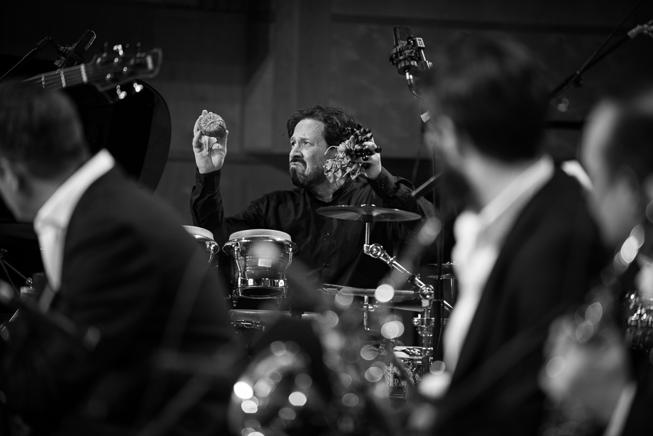 """Live in Glasgow on the """"Celebrating Jaco"""" Tour with the Scottish National Jazz Orchestra. Photo by Derek Clark ©"""