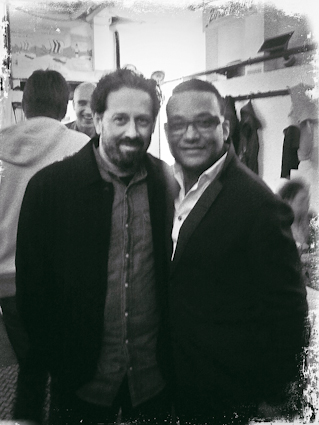 Backstage with Gonzalo Rubalcaba after our concert with the Metropole Orchestra at the Bremen Music Festival.