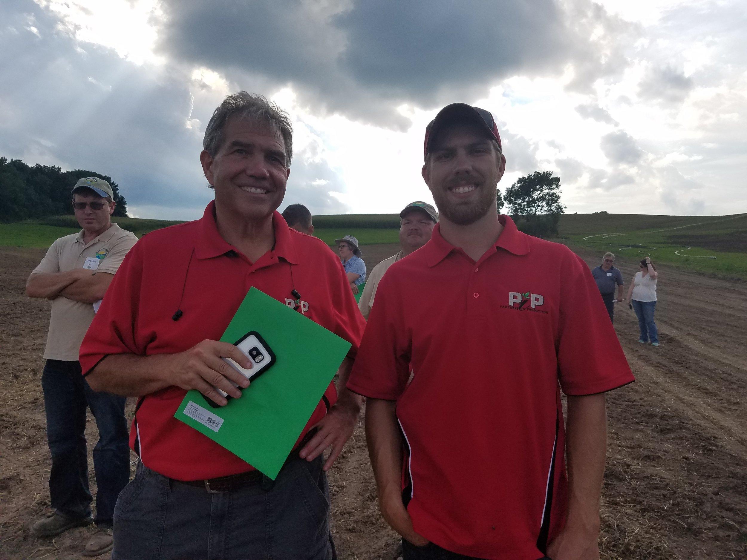 Jack Kaltenberg and his son Garret Kaltenberg attending a field day in 2016