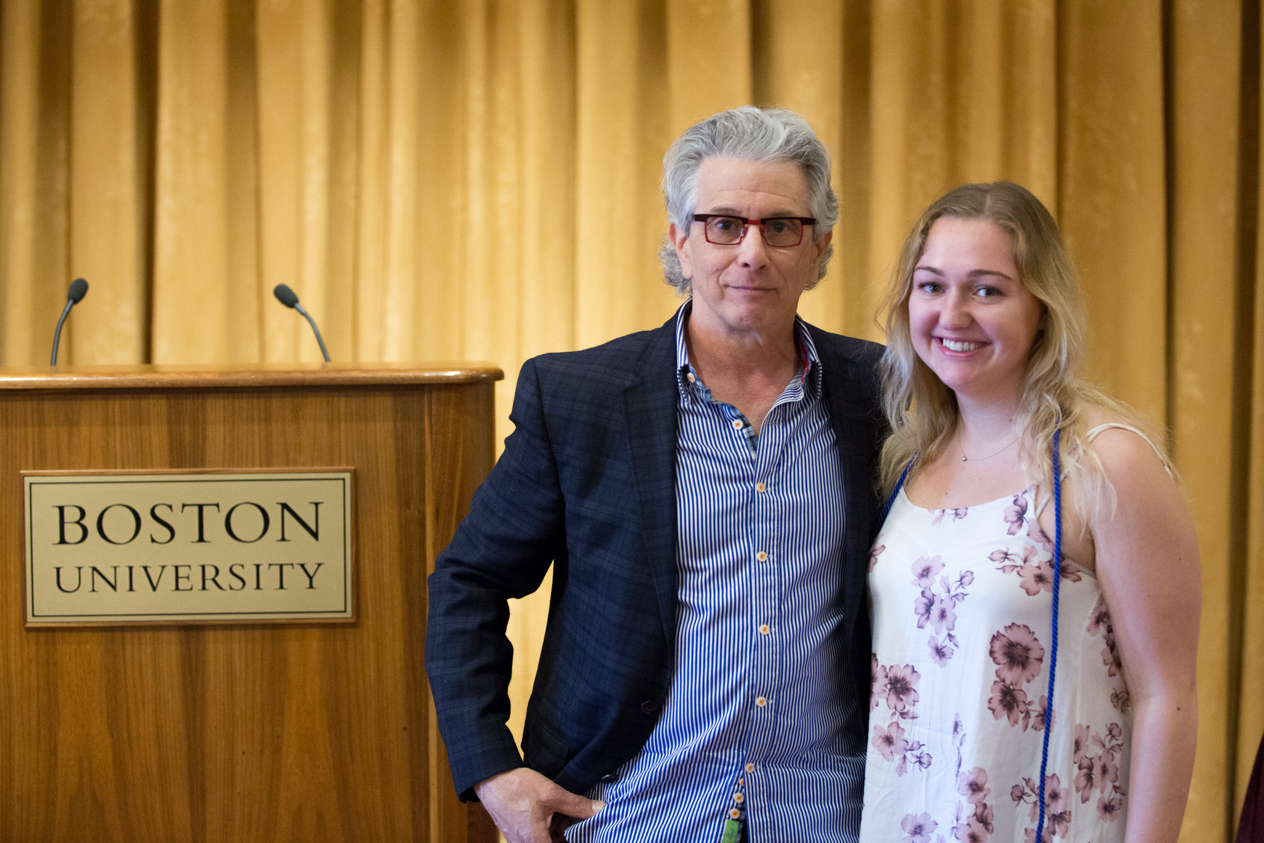 Edward Boches Presents the Blue Chip award to Karli Bendlin