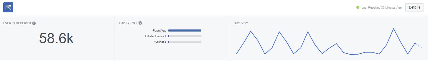 Website Activity Recorded via Facebook Pixel