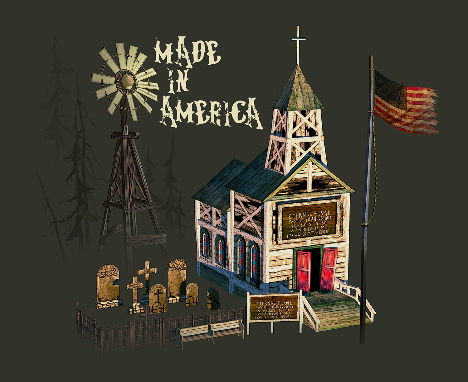 Flame In The Flood - Church Set