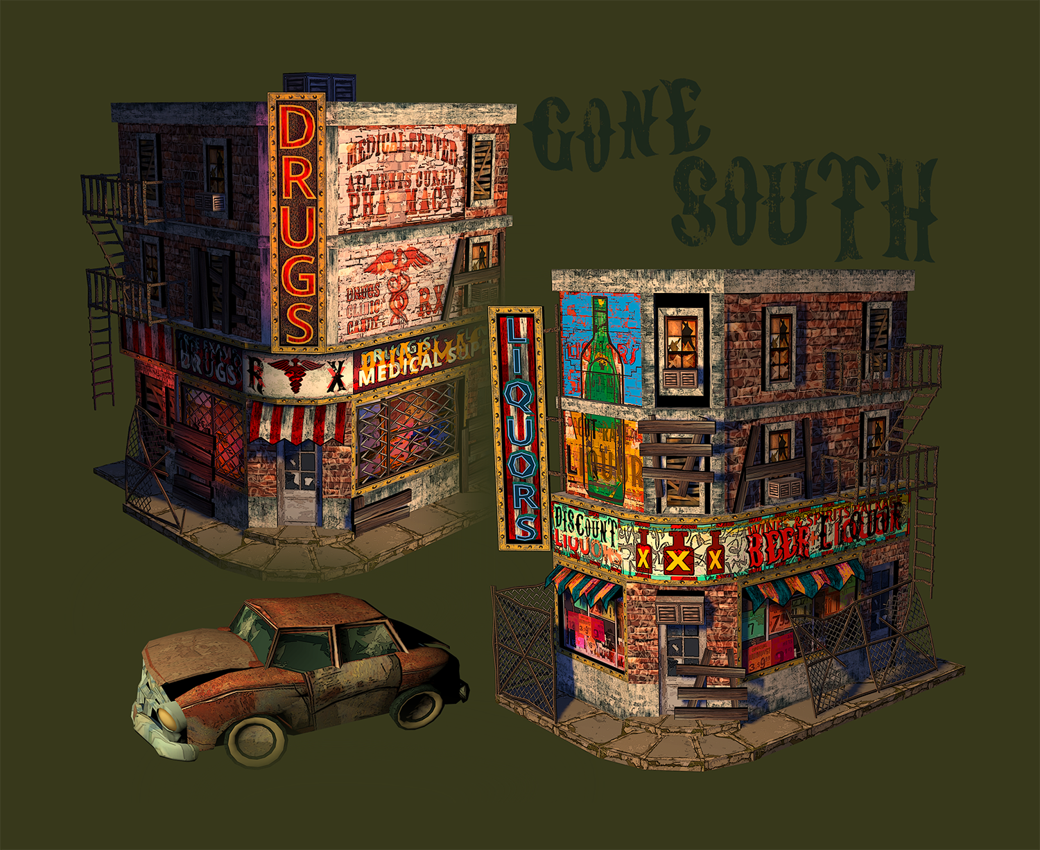 Flame In The Flood - City Set