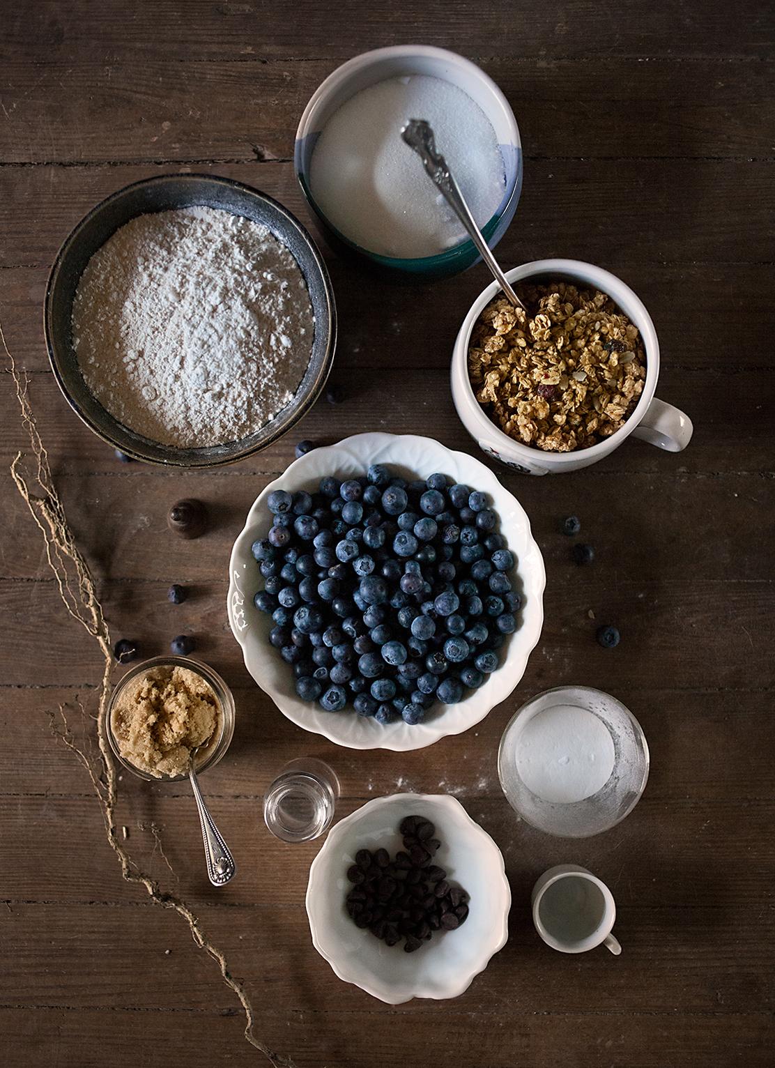 Dry Ingredients for Blueberry Breakfast Bake