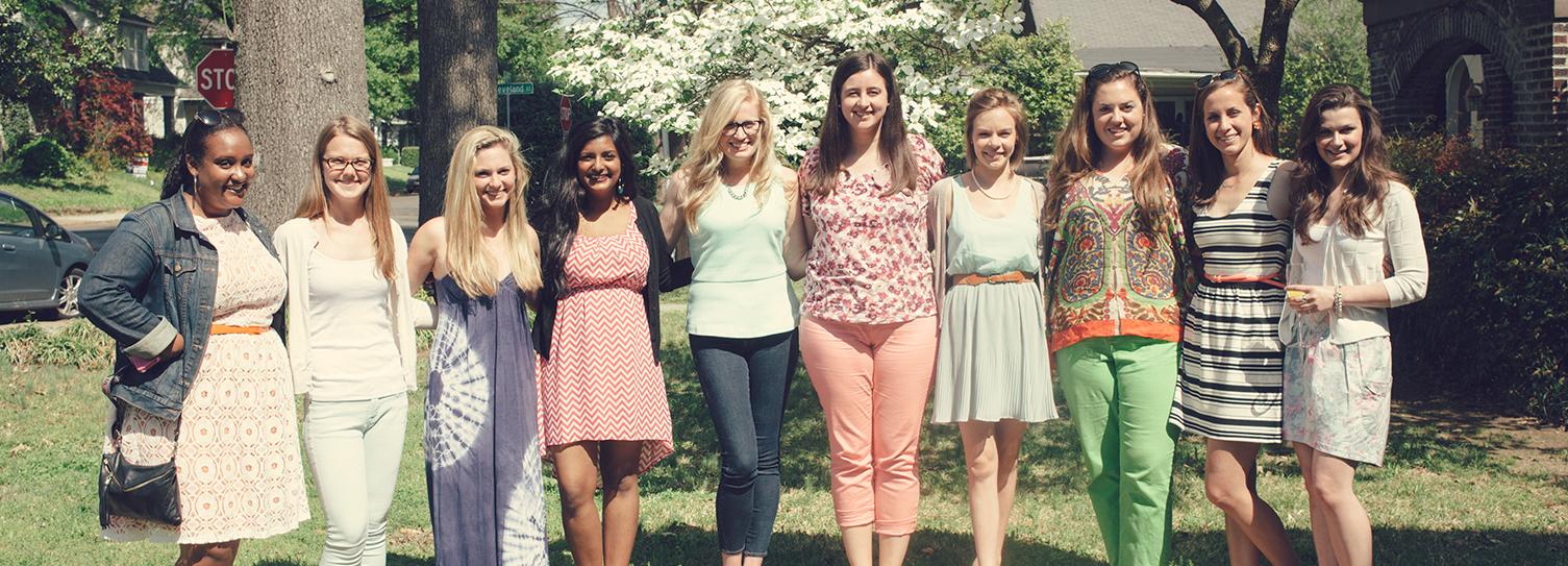 Mela, Caroline, Kathleen, Neha, Erin, Mora, Lappy, Molly, Lucy, Nora