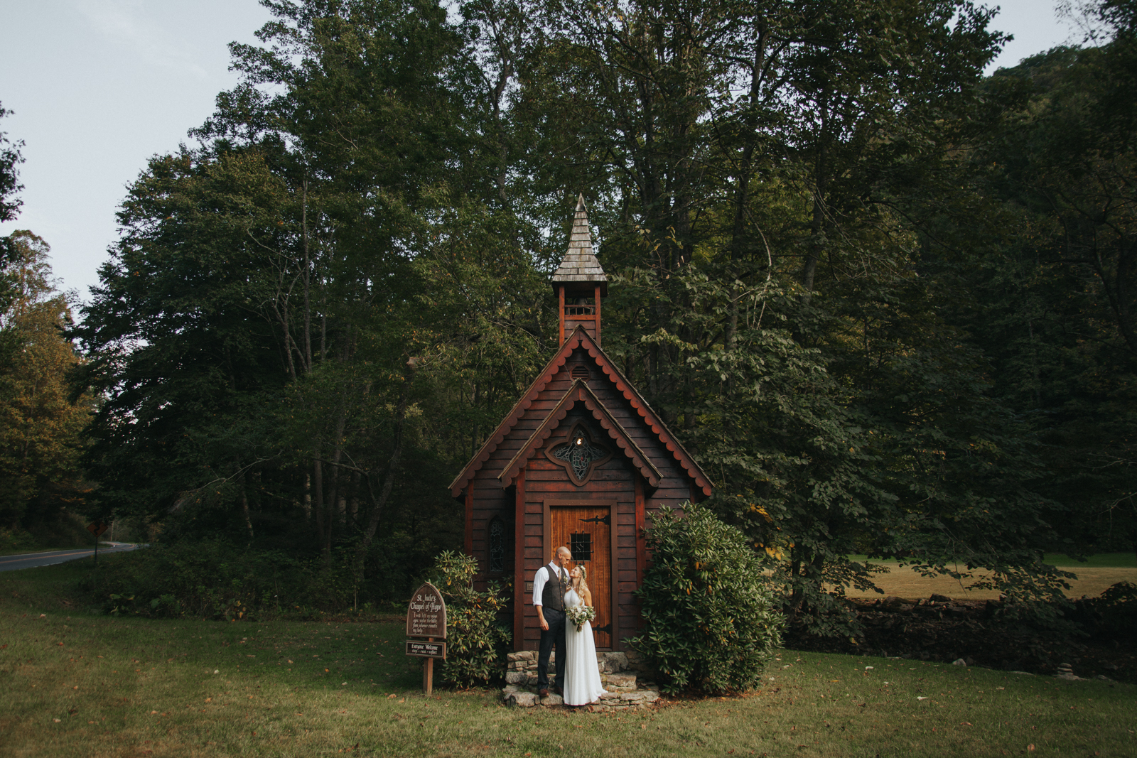 St Jude's Tiny Chapel Wedding Elopement Trust North Carolina Photographer