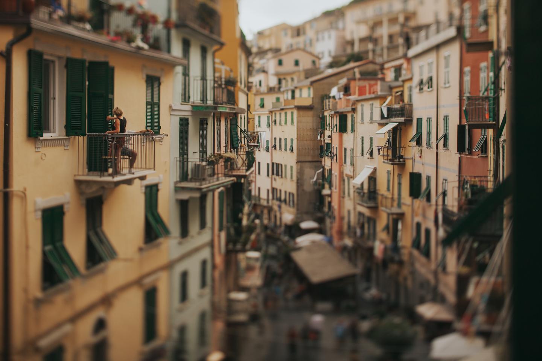 View of Riomaggiore, Cinque Terre, Italy