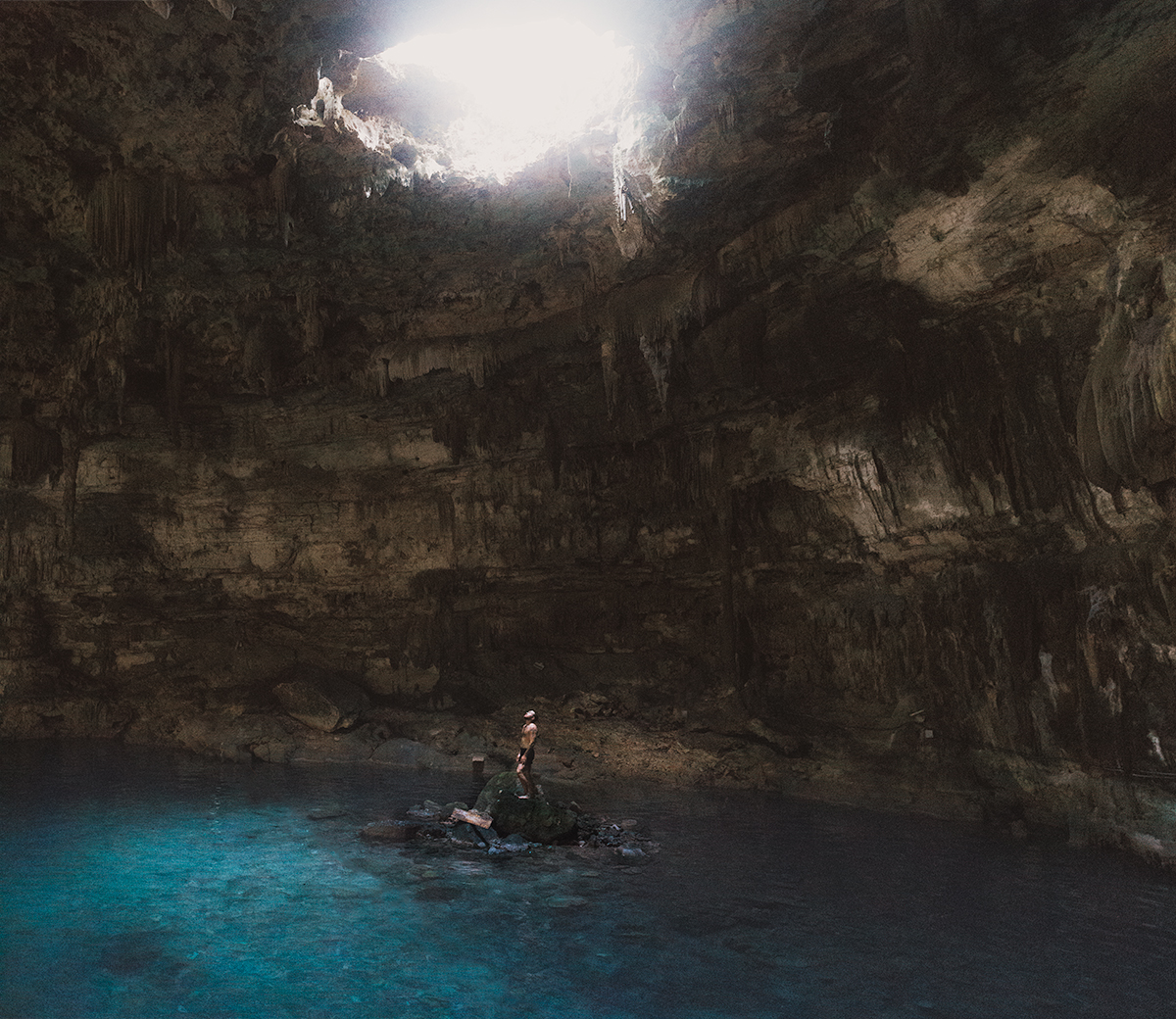 Cenote Saluum in the Yucatan Peninsula.