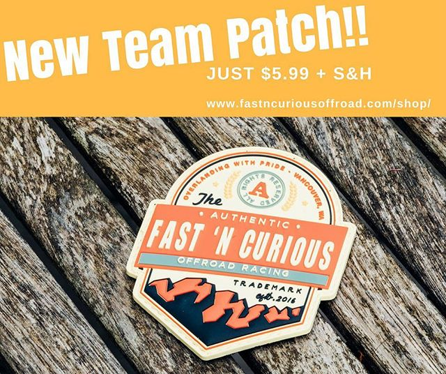 Come pickup our new patch!! Help support our efforts to get to the Rebelle Rally and other races. https://www.fastncuriousoffroad.com/shop/fast-n-curious-3d-patch #patch #overlanding #teamfastncurious #rebellerally
