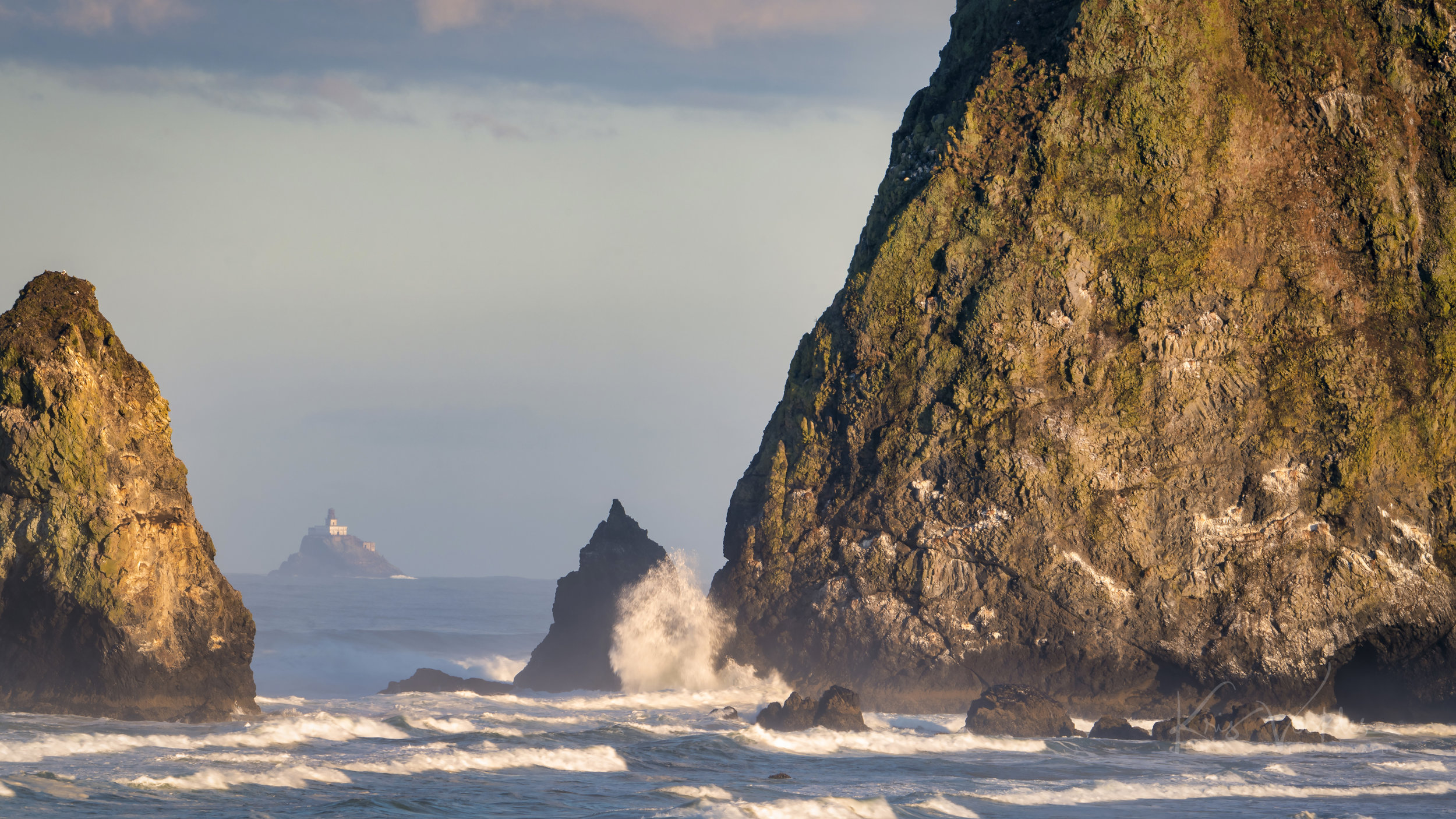 Tillamook Rock Lighthouse - Through Haystack Rock