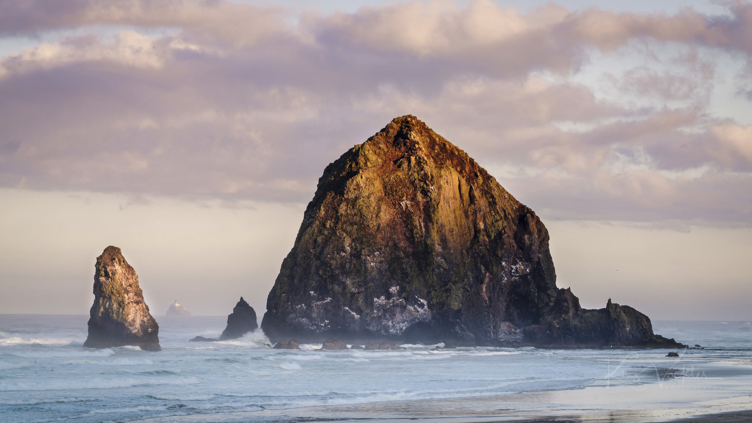Haystack Rock, from South Cannon Beach, Oregon