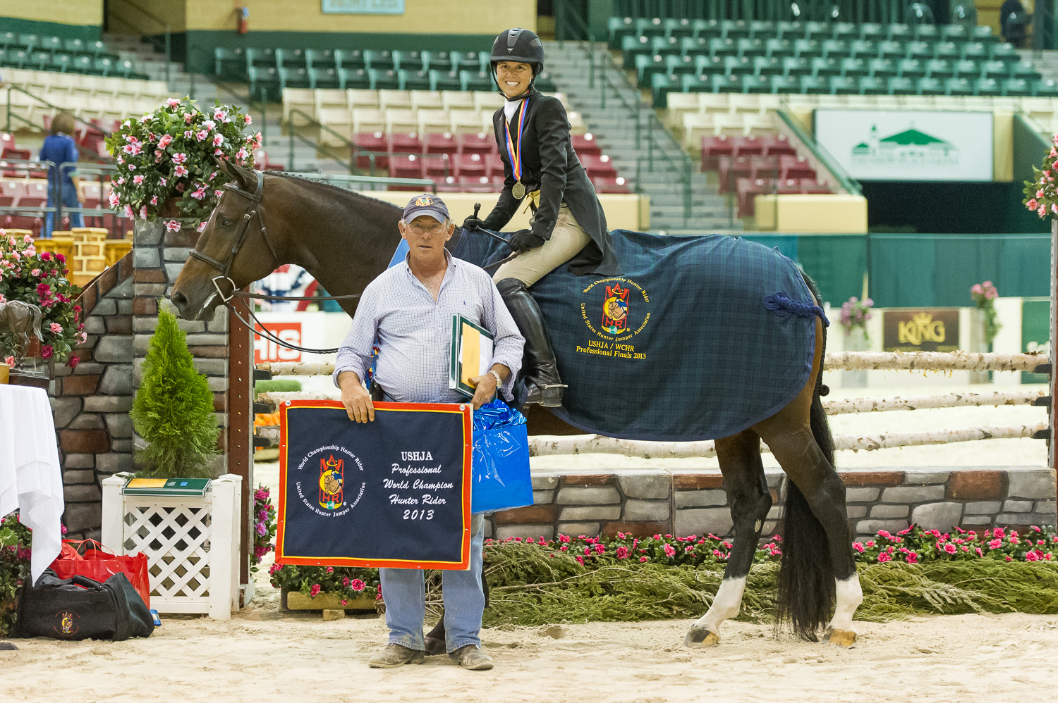 Liza Boyd and Jack Towell celebrate her WCHR Professional Finals victory.