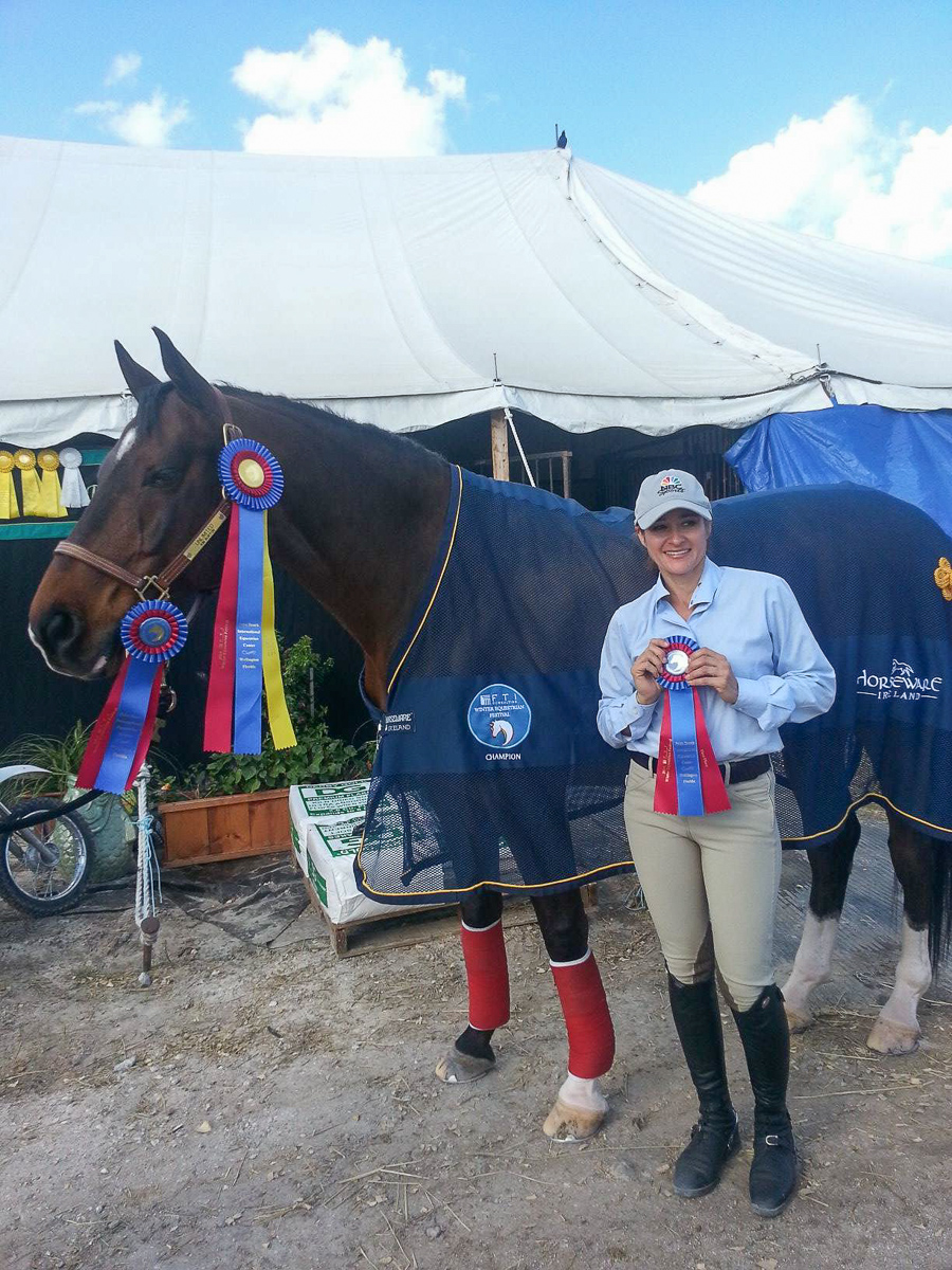 Kim Burton and Unlimited show off the spoils of their successes! (Lorna Conway Photo)