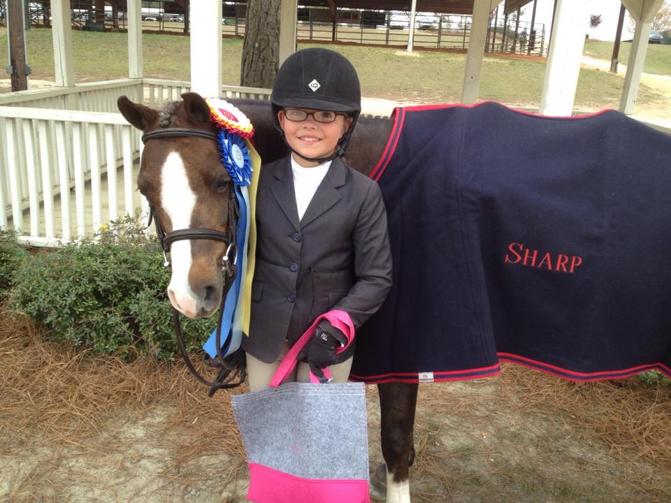 I Candy and Catherine Sharp enjoy the spoils of their great show at the Camden Spring Classic.