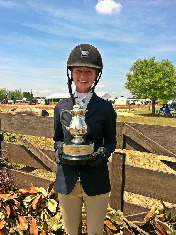 Grace Howard with the Aiken Spring Hunter Style Award