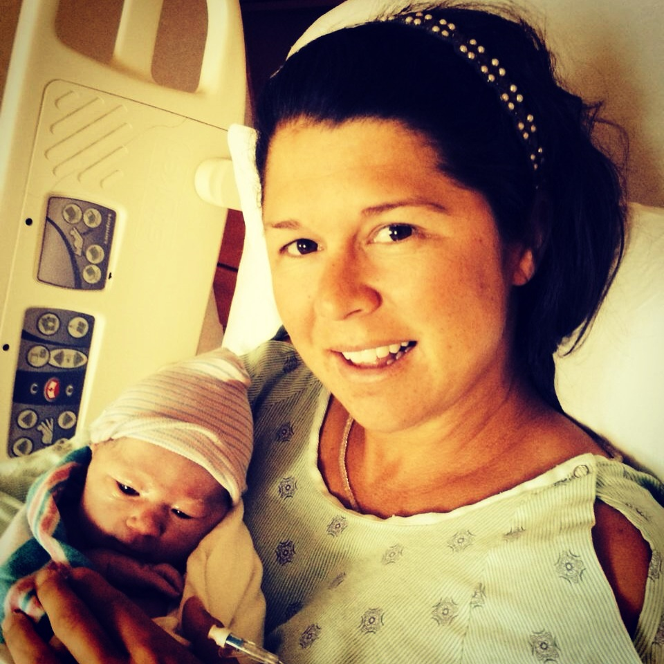 Liza Boyd with new daughter Elizabeth Adelline