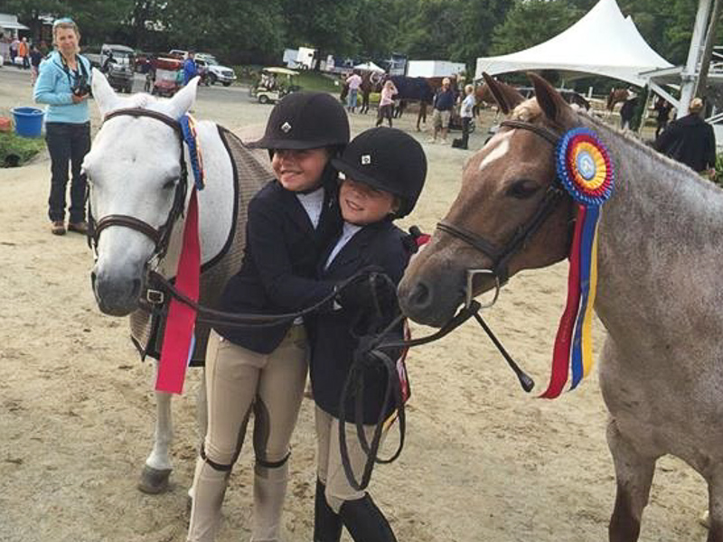 Catherine Sharp and Zola Thompson celebrate their championships!