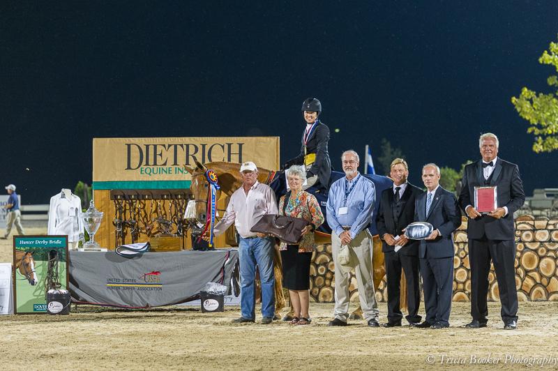 Liza and Brunello won their second consecutive USHJA International Hunter Derby Championship.