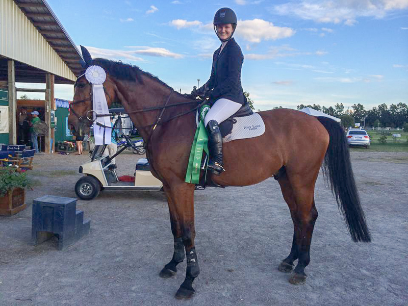 Maddy Thatcher returned from Clemson to earn great ribbons in the $15,000 1.35m Open Jumper Classic.