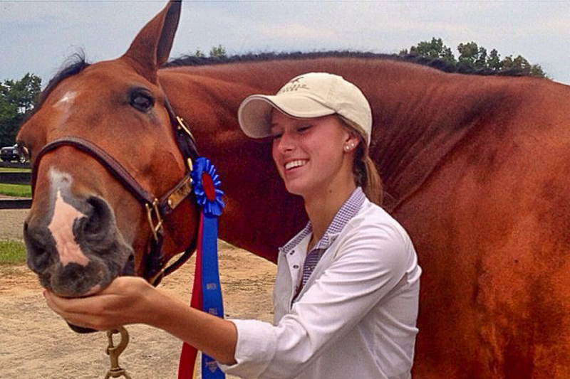Addison Byrd and Too Cool celebrate their return to the show ring.